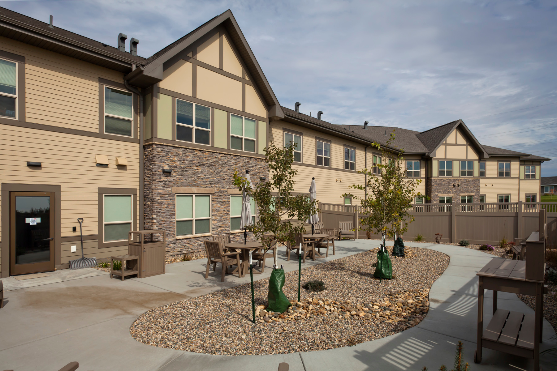 The enclosed patio at Elim Baptist Health Care Center in Bismarck, North Dakota, built by CBS Construction Services.