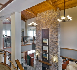 CBS Construction Services Inc St. Therese of Woodbury A Senior Living Community Lobby Stone Feature