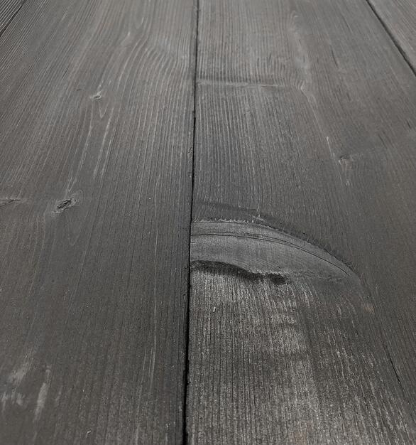 Shou Sugi Ban Western Red Cedar Carbon | 1 by Pioneer Millworks. Charred wood siding and paneling that is burned, brushed once, and coated with non-toxic, water-based polyurethane