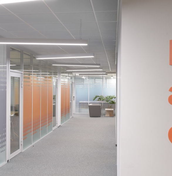 Certified Glass Partitions aluminum wall system is a great way to divide interior office space and provide acoustical privacy, all while allowing desirable light to enter the indoor spaces.