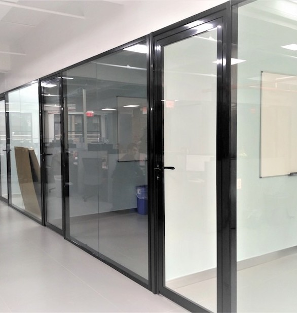 CGP's aluminum wall system allows you to quickly and efficiently divide any space into several zones, creating a comfortable environment for the office staff and visitors.  Installation of such structures makes it possible to increase the effective area, thereby saving on rent.