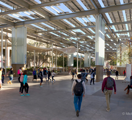 Channel Glass Structural Columns and Glass Wall Panels at Arizona State University