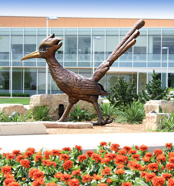 Chaparral gives students and visitors of the College of Dupage in Glen Ellyn, Illinois a reason to smile every time they are on campus.
