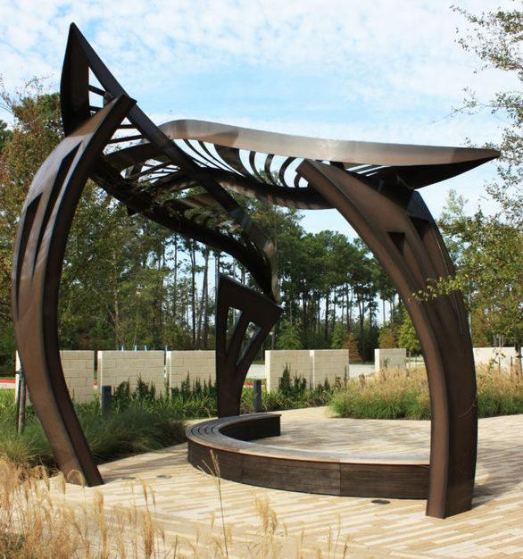 "Side view of ""Leaf Arbor"" at CHI St. Luke's Health – Springwoods Village Hospital in Springs, Texas."