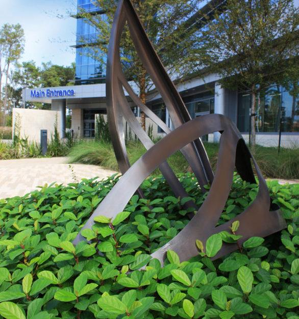"Add-on ""Leaf Arbor"" display at CHI St. Luke's Health – Springwoods Village Hospital in Springs, Texas."