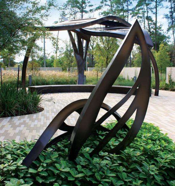 """Leaf Arbor"" at CHI St. Luke's Health – Springwoods Village Hospital in Springs, Texas."
