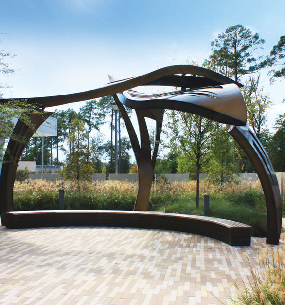 """""""Leaf Arbor"""" sculpture provides a creative and inspiring space at CHI St. Luke's Health – Springwoods Village Hospital in Springs, Texas."""