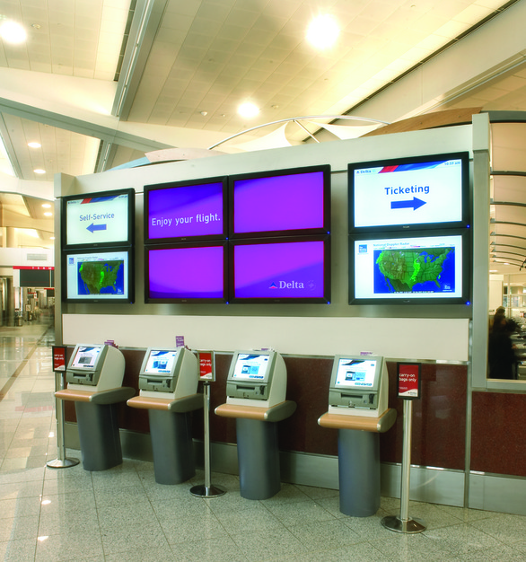Airport application is one of the industries where you'll find Chief ProAV digital signage products.