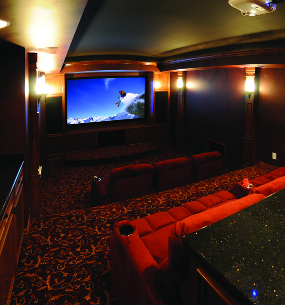 An intimate theater using Chief projector products.