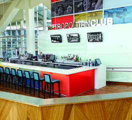 Chief Target Field Metropolitan Club bar area