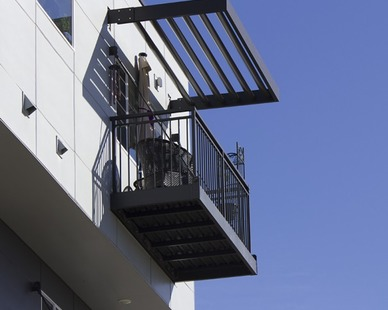 Modern industrial balcony at the Cityscape at Belmar by Endurable Building Products