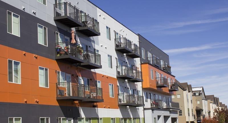 Modern exterior of the Cityscape at Belmars Senior Living Community Complex