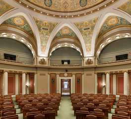 Civic building design congressional room