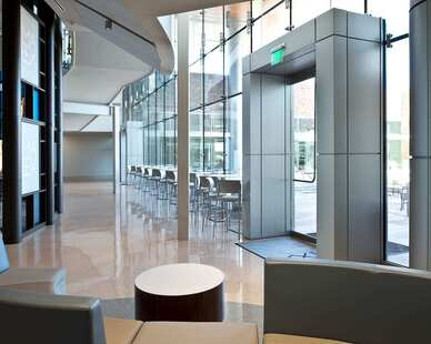 The doors to enter the Mississippi Arts building are surrounded by Dri-Design's panels for a gorgeous accent.