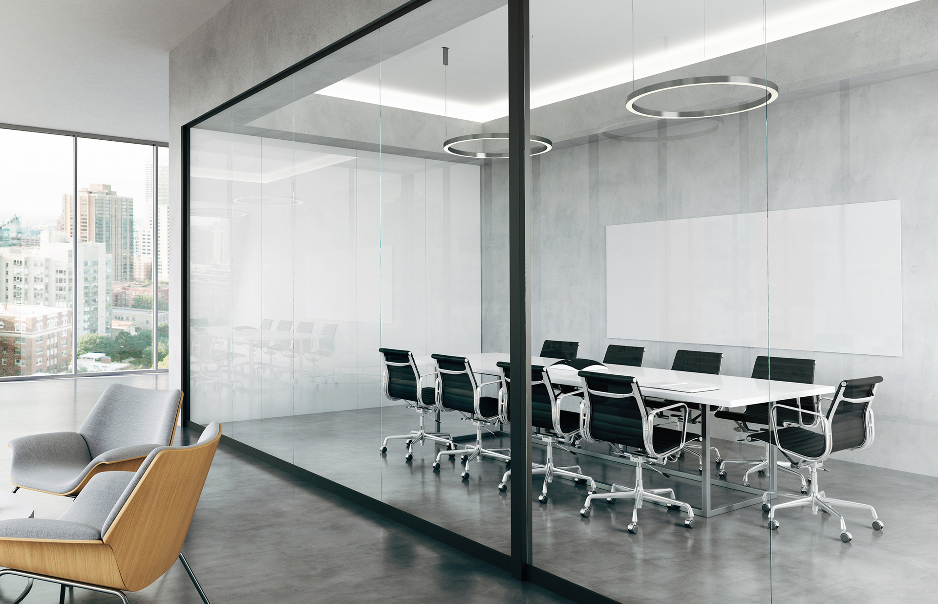 "Claridge Glass dry erase markerboards are stylish, functional and easy to maintain. Made from 1/4"" low-iron, ultra-clear glass for exceptional clarity, Claridge Glass is available in 10 standard colors and over 180 optional powder coat colors."