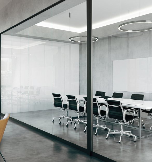 """Claridge Glass dry erase markerboards are stylish, functional and easy to maintain. Made from 1/4"""" low-iron, ultra-clear glass for exceptional clarity, Claridge Glass is available in 10 standard colors and over 180 optional powder coat colors."""