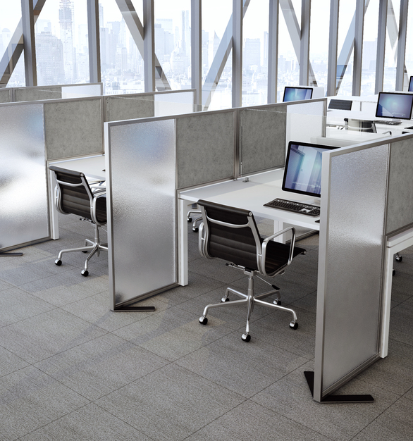 Claridge Product Notch Open Office Desk Divider