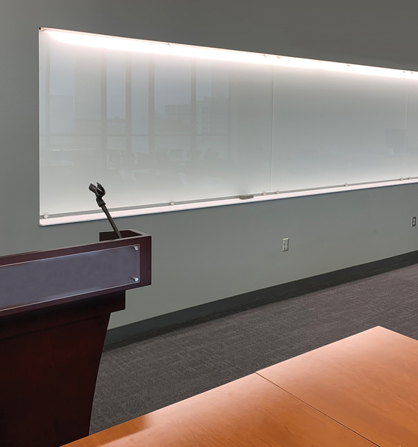 "Stylish, functional, and easy to maintain, our Claridge Glass dry erase markerboards add class to any environment. Made from 1/4"" low-iron glass for exceptional clarity, Claridge Glass is available in 10 standard colors and over 180 optional colors."