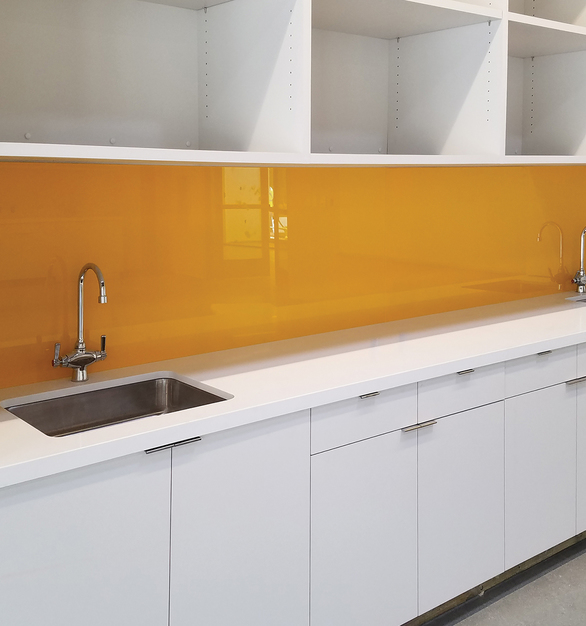 """Claridge Glass dry erase markerboards are stylish, functional and easy to maintain. Made from 1/4"""" low-iron, ultra-clear glass for exceptional clarity, Claridge Glass is available in 10 standard colors and over 180 optional powder coat colors, with three different mounting options."""