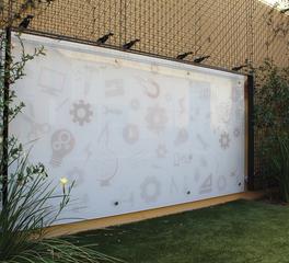 Claridge Products Custom Glass Graphic Marker Board Wall