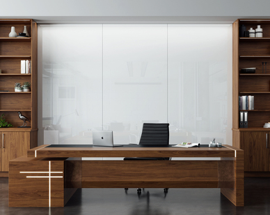 Claridge Glass Marker Walls offer a room-size presentation surface designed for heavy use and multiple-format presentations. Cover an entire wall, floor-to-ceiling, up to 10' and utilize all available space.
