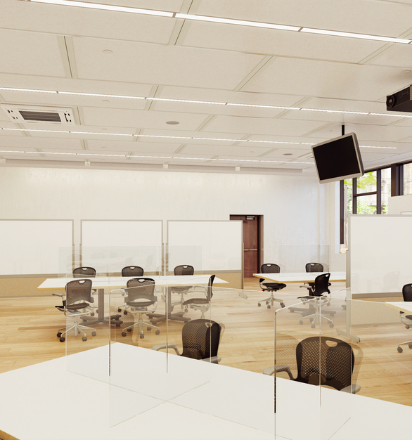 Claridge Products Masterclass Rev 2 Classroom Desk Dividers and Protective Partitions