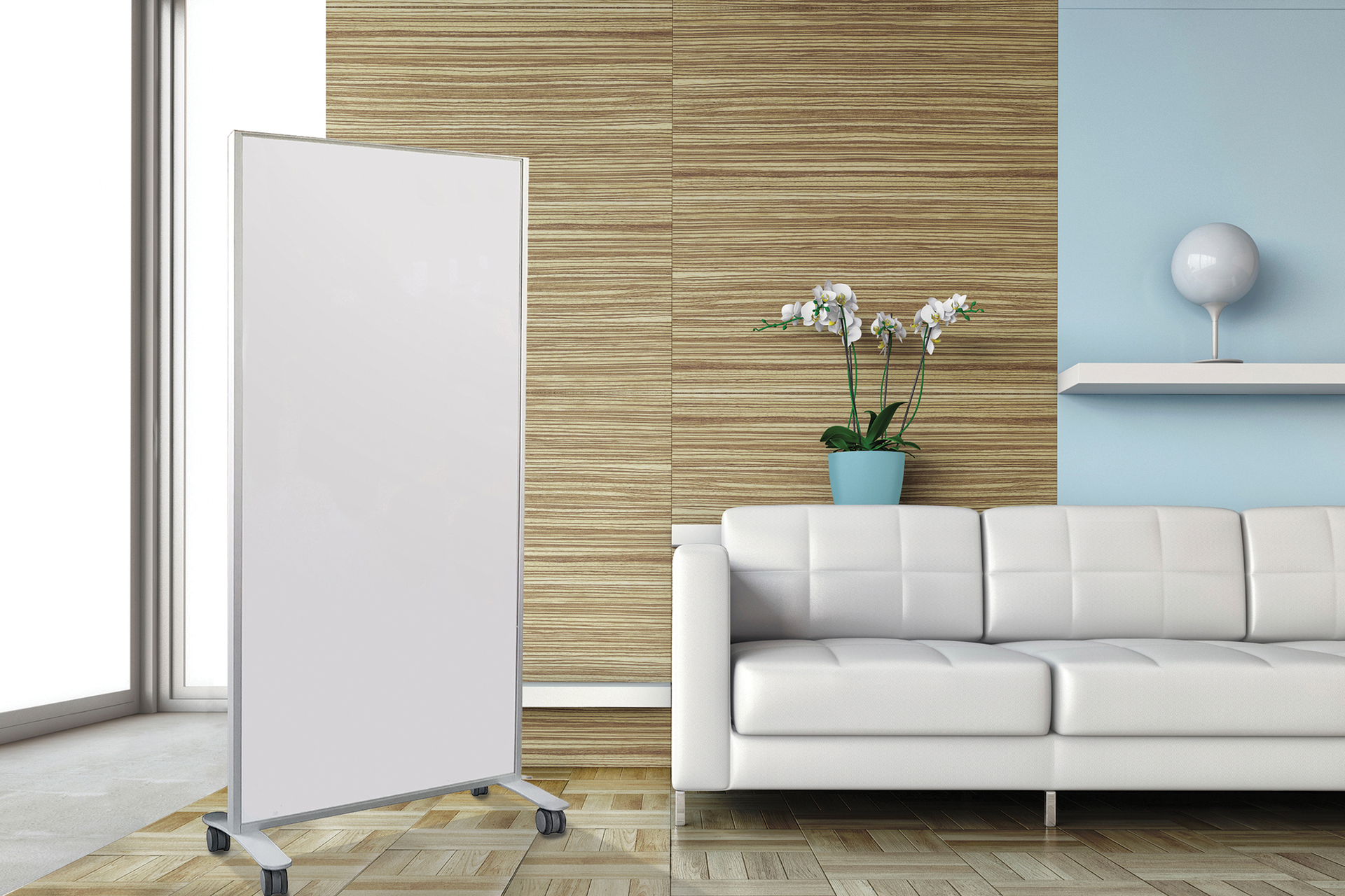 CONNECT® X2 Mobiles enhance the look of any space and are available in LCS3 Porcelain®, Claridge Glass and multiple Tackboard options. The stain anodized aluminum frame and feet can be customized with your choice of 180 optional powder coat colors.