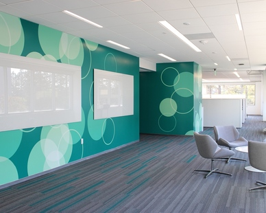 Incorporate breakout spaces throughout your office space with glass dry-erase markerboards by Claridge Products to encourage collaboration and teamwork. The versatile whiteboards blend into any interior space design.