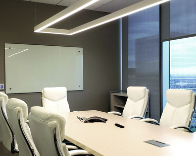 The ultimate premium writing surface for those who require an elegant and unique design style for their writing surfaces. Claridge Glass Whiteboards are perfect for the board room, executive offices and anywhere else that design is equally valued with functionality. Claridge Glass offers dimension given the reflective nature of the writing surface, and any color can be chosen for the writing surface, using Claridge's proprietary manufacturing process.