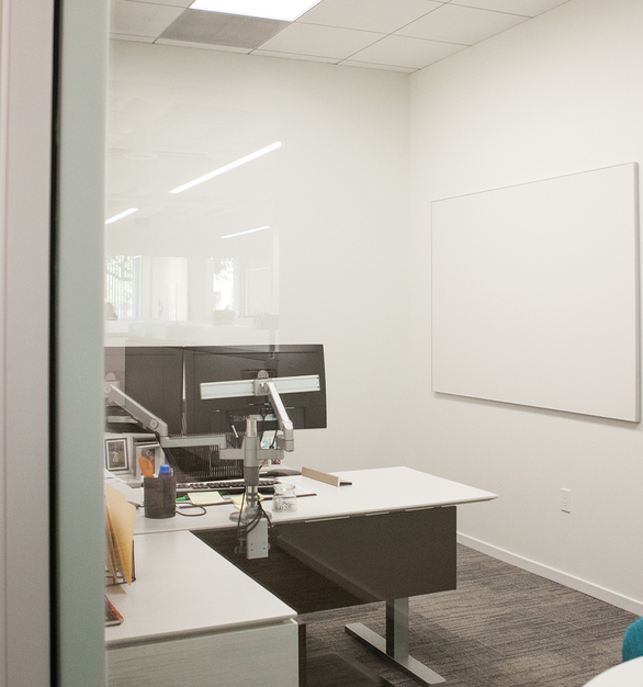 Cover an entire wall, floor-to-ceiling in heights up to 10′ Individual panels available in heights up to 10′ and lengths up to 3'11-1/2″. Claridge Glass Wall Systems are custom fabricated to your wall or environment dimensions. A writing surface expert will work closely with you to coordinate accurate field measurements.