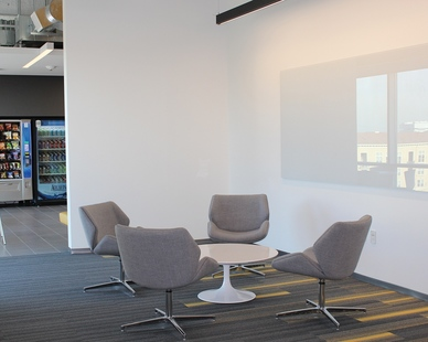 A bright and comfortable workspace encourages teamwork and inclusivity between co-workers and peers. Claridge Products provides a variety of whiteboard panels and finishes to help you achieve your desired interior design aesthetic.