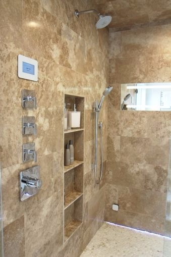 ClearMirror designed a ShowerLite for luxury showers. Heated and lighted to make shaving in the shower easier and is an excellent match for any hospitality construction or renovation.
