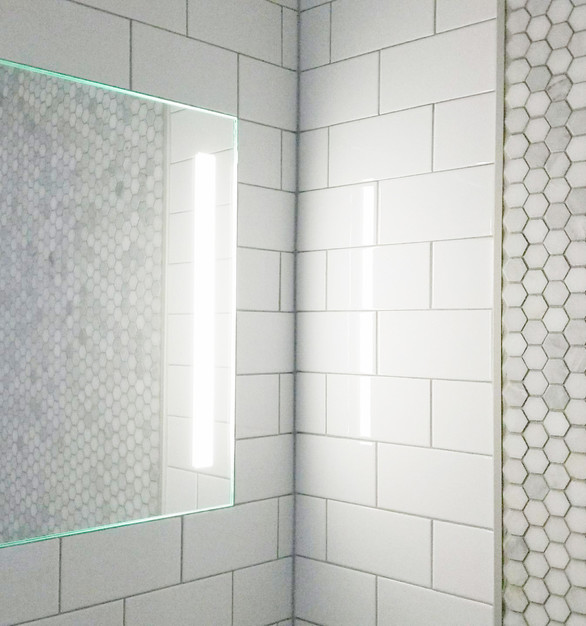 The ShowerLite ClearMirror is the most luxurious way to enhance your next bathroom project or renovation.