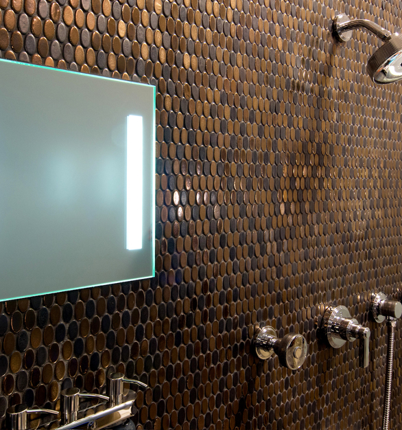 ShowerLite ClearMirror is an elegant addition to any modern shower design project.
