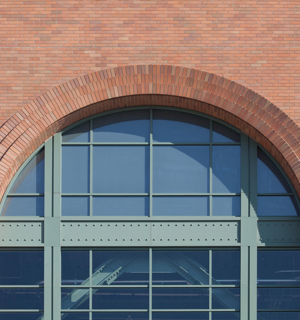 The ballpark is clad in a mix of 470-479 Medium Range and Sea Gray brick and arches typical for the retro era.