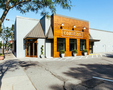 Exterior of the Coalition Restaurant in Minneapolis, MN