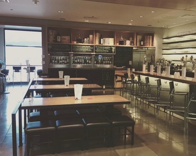 Custom concrete flooring provided by Concrete Collaboration is perfect for restaurant flooring.