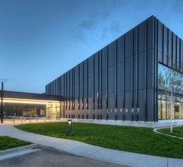 conerstone general contractors wasilla public library exterior