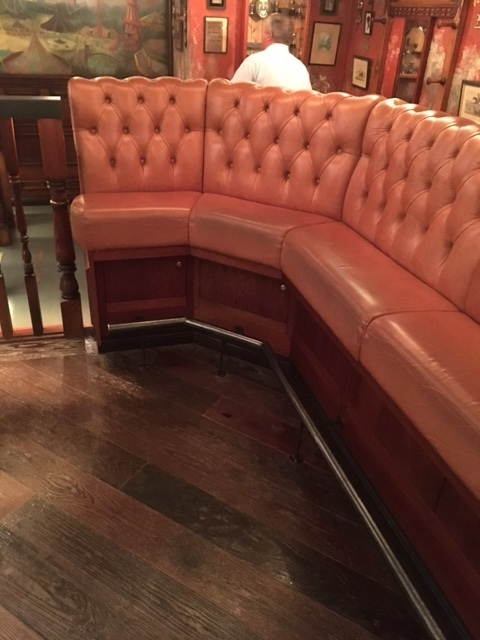Custom booth seating is Contract Industries specialty.