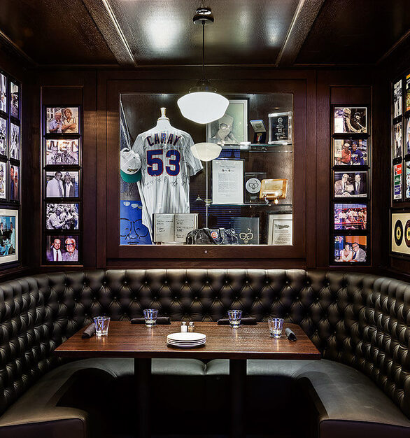 Private booths throughout Harry Caray's 7th Inning Stretch showcase the gorgeous custom booths by Contract Industries.