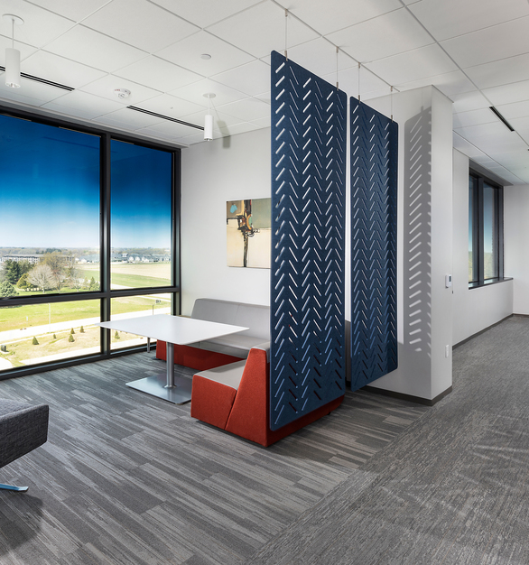 Sammons Financial Group's new office space is situated on almost 26 acres of land, and includes a 220,000-square-foot, six-story headquarters building.
