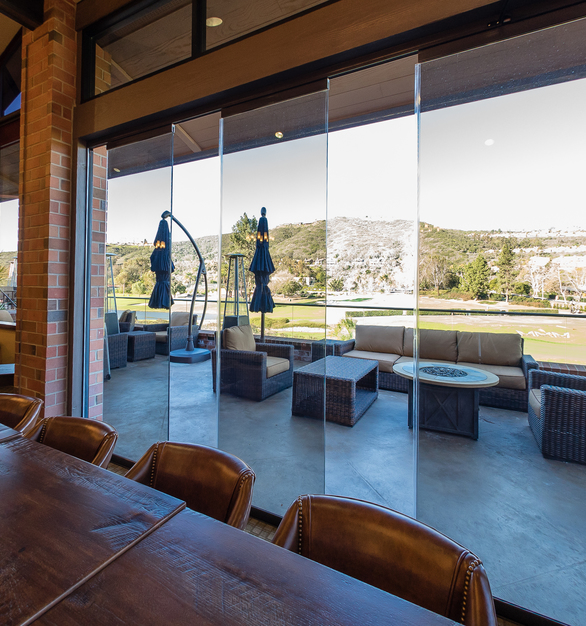 The frame-less sliding glass doors by Cover Glass USA provide natural ventilation to whatever space they are installed.