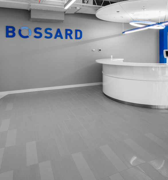 Crossville's Shades Collection complimented the modern design throughout the Bossard Group Customer Experience Zone.