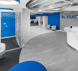 Crossville Bossard Group Customer Experience Zone lobby design
