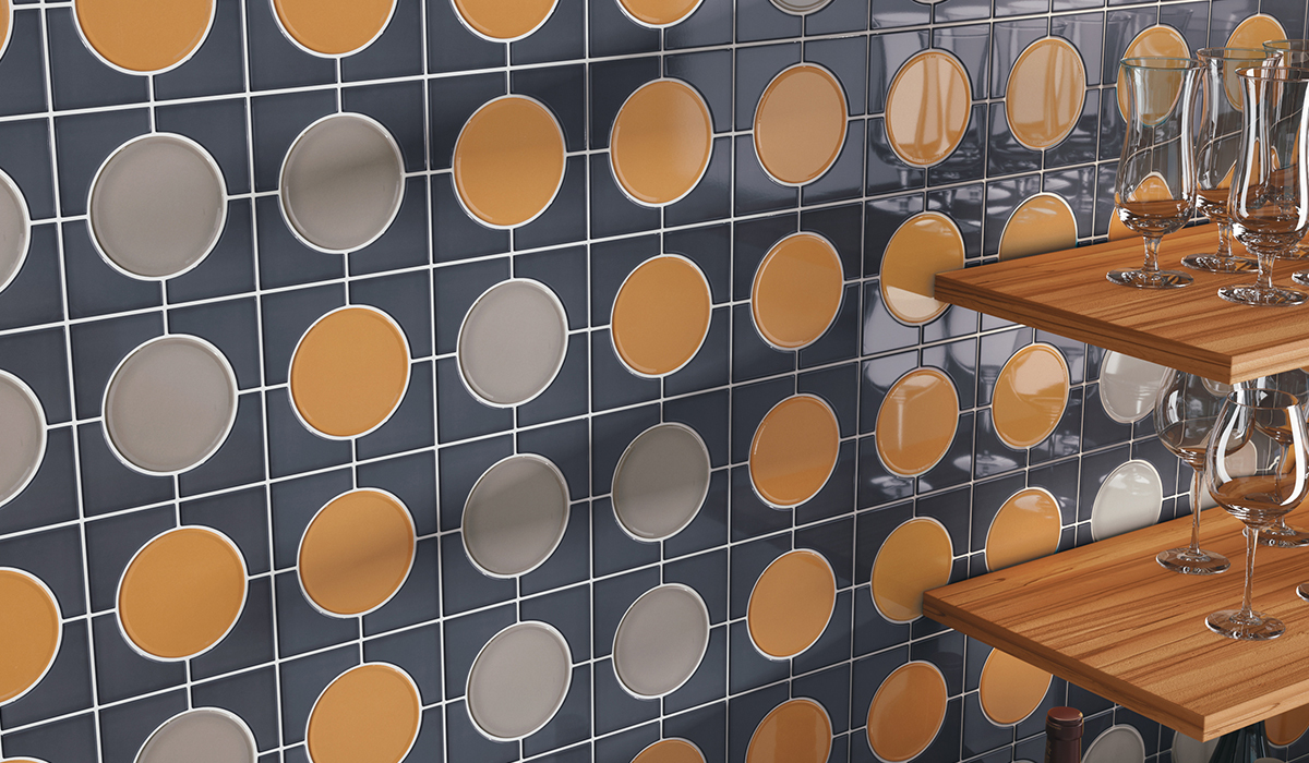 Cursive's unique tile shapes bring signature style to your interior design. Let walls be your memoir as you write with the eclectic colors and shapes of Cursive.