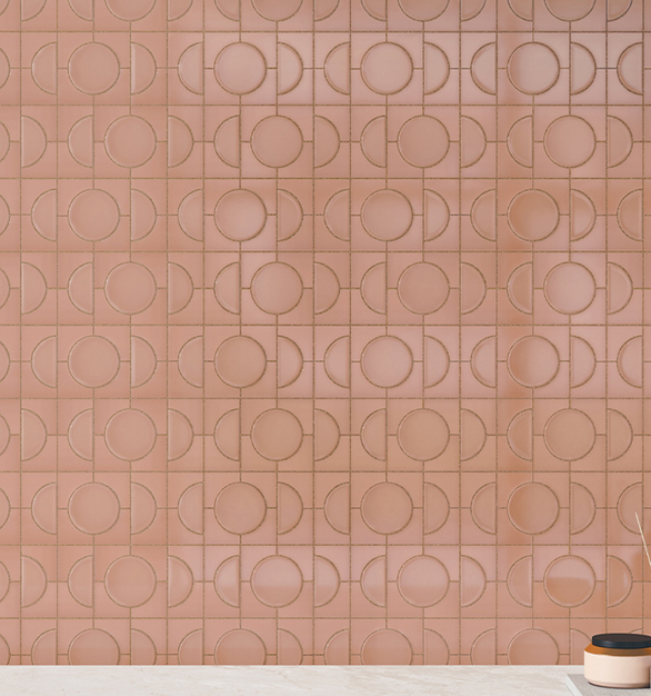 The stunning Rose Gold color from the new Cursive wall tile collections will make you believe in love at first sight! the warm hue will add romance to your interior wall designs.