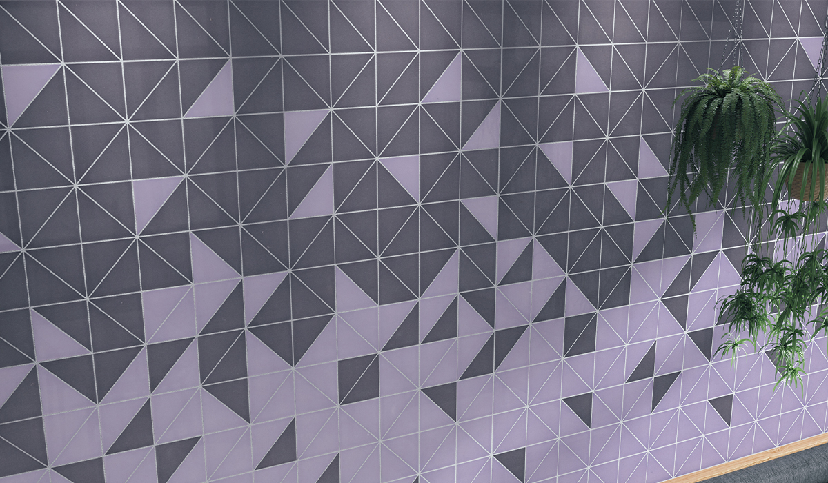 As unique as your penmanship, Cursive's unique tile shapes bring signature style to interior design. With eclectic colors and shapes, punctuate spaces with light and dark colors. Offered in nine trending colors, create unique and inspiring patterns with Cursive's triangle tile, circle tile, half-circle demilune tile, and more.