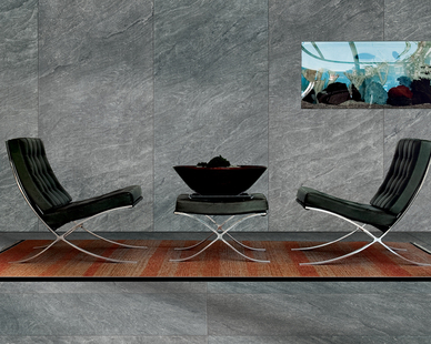 Typical natural stone is a textural, blended material which is what Crossville's porcelain tile panels mimic.