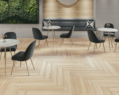 Selecting a tile should never cause worry. That's why Crossville created Relax a subtle, calming woodgrain in a certified porcelain tile.