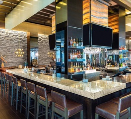 Cultured Stone Ocean Prime bar space and seating